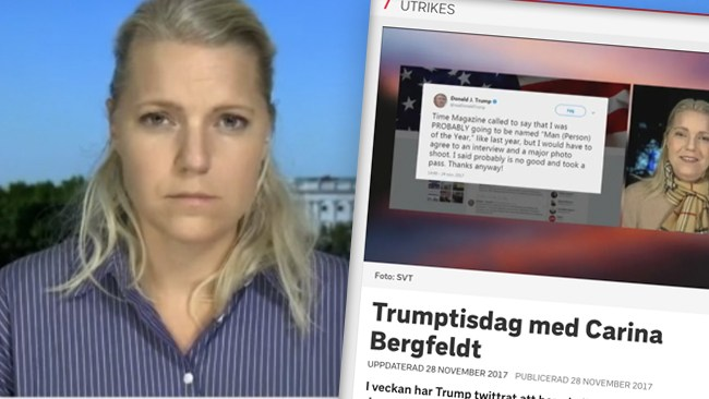 """Slutet för SVT:s """"Trumptisdagar""""? Carina Bergfeldt lämnar som USA-korrespondent"""