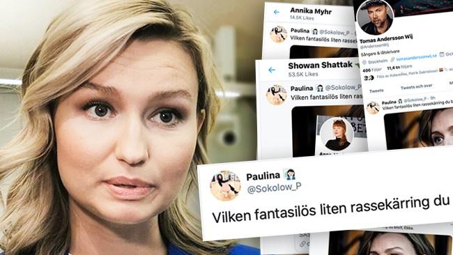 "Flammanprofilen Sokolows och artisten Tomas Andersson Wijs näthat mot Busch Thor: ""Rassekärring"""