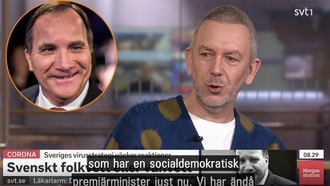 "SVT: ""Vi har en oerhörd tur som har en old school socialdemokratisk premiärminister"""