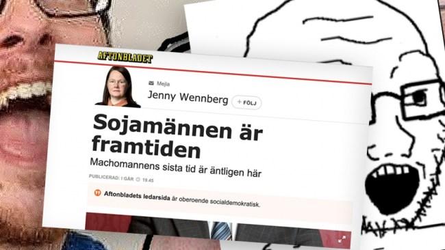 """Aftonbladet hyllar soy boys: """"Sojamännen är framtiden"""""""