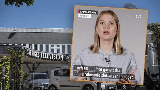 """Påstår att det är svårt att jämföra Sveriges dödstal – nu anklagas SVT för """"lögnpropaganda"""""""