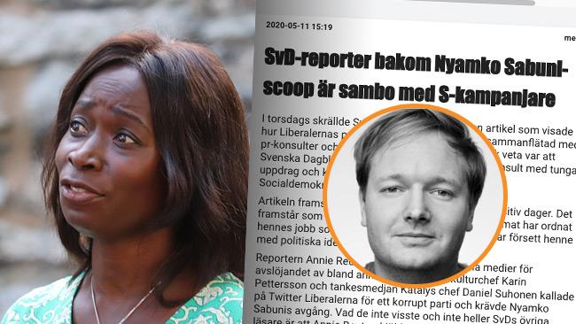 Utpekade Svd Reporterns Pr Sambo Slar Tillbaka Har Precis Gatt Med I Liberalerna Nyheter Idag
