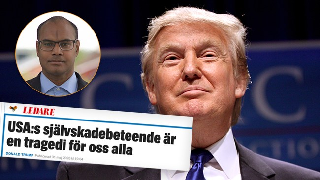 Expressen gör sig till nyttiga idioter om Trump och kravallerna i USA