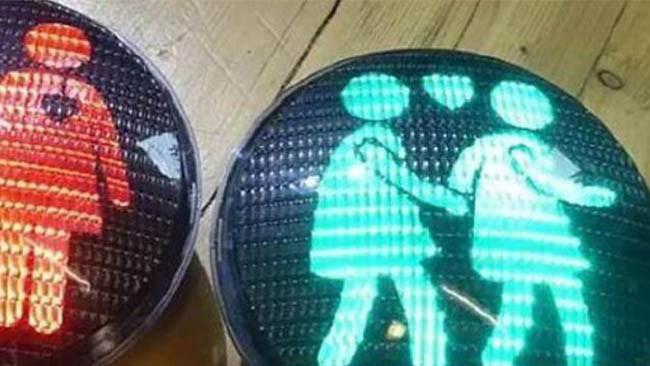 Samkönade trafikljus blir permanenta i Stockholm