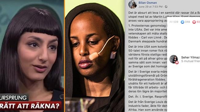 """Expos Bilan Osmans attack på Sverige: """"Vithetens högborg"""" – inlägg gillas av SVT-profil"""