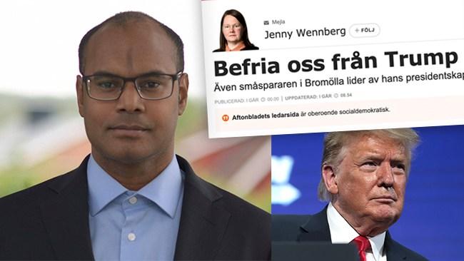 Berggren: Världen behöver inte befrias från Trump, världen behöver Trump