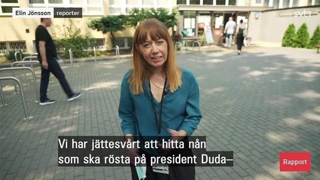 Szwedzka telewizja publiczna obiektem kpin za korespondencje z wyborów prezydenckich w Polsce