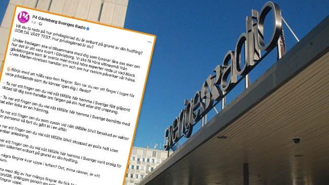 """Här är Sveriges Radios raderade test av """"vitt privilegium"""""""
