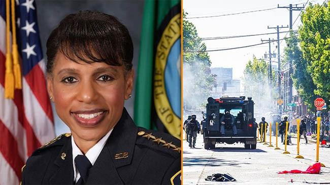 Seattle BLM-slaktar polisbudget – nu avgår svart polischef