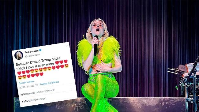 Zara Larsson hyllade kontroversiell kinesisk app i raderad tweet