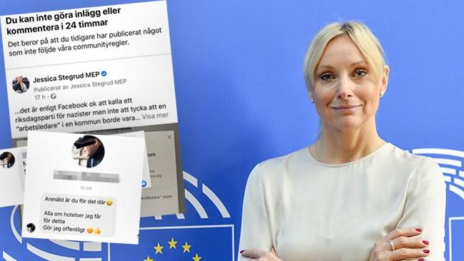 EU-parlamentarikern Stegrud (SD) avstängd från Facebook
