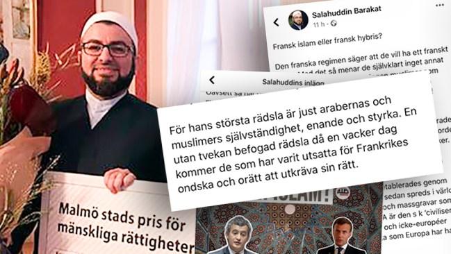 """NYHETER IDAG AVSLÖJAR: Malmö-imamen hetsar mot Frankrike och Macron: """"Må Gud befria Frankrike från ondskan"""""""