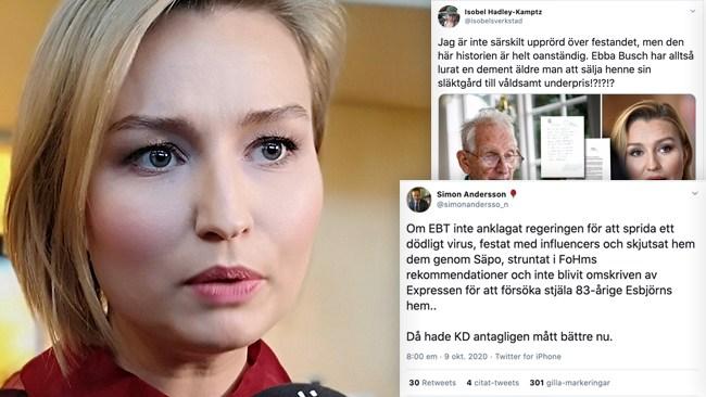 """Drevet mot Ebba Busch: """"Förtal är att säga att någon är brottslig eller har begått ett brott"""""""