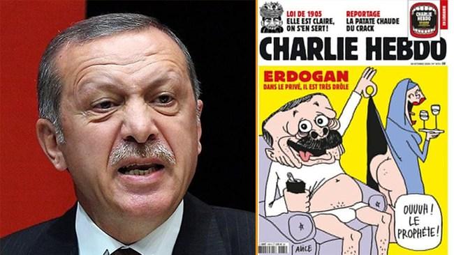 Erdoğan rasar mot karikatyr – Turkiet till attack mot fransk yttrandefrihet