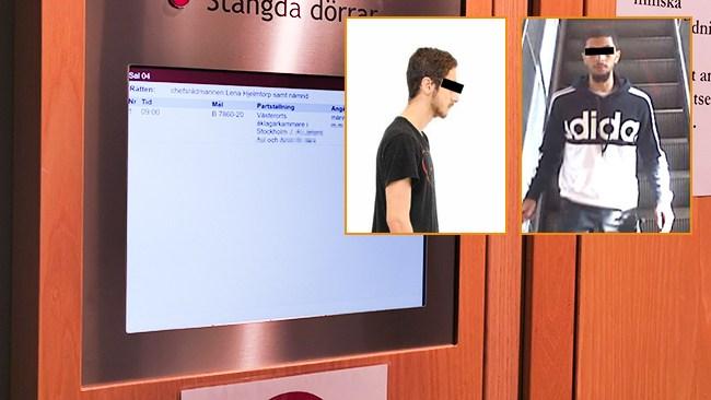 """Misstänkta Solnamonstren blånekar i tingsrätten: """"Inget jag tänker uttala mig om"""""""