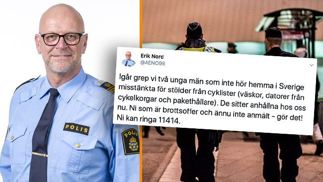 """Polischef skrev att utländska tjuvar """"inte hör hemma i Sverige"""" –anklagas för rasism"""
