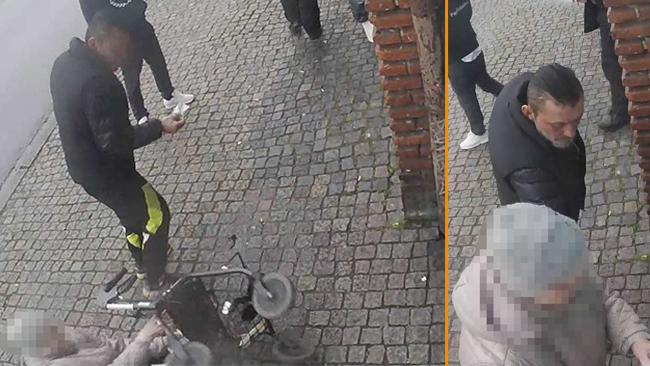 Polisens bevisning inkluderar bilder från övervakningskameror