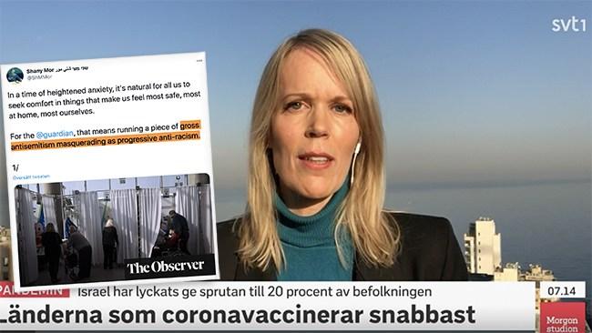 SVT vilseleder om Israels coronavaccinering