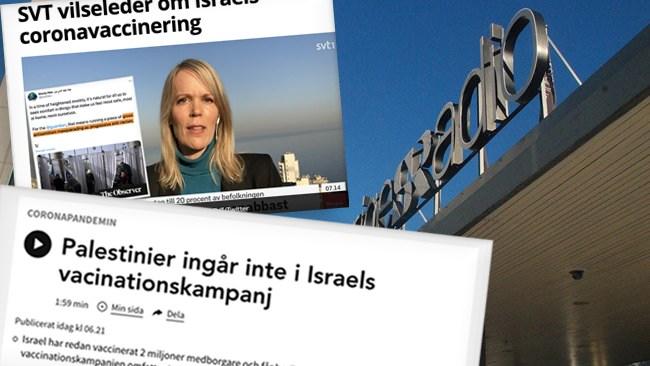 SR ansluter till SVT:s kampanj mot Israels vaccinprogram