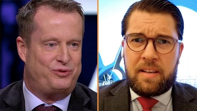 """Åkesson i debatt mot Ygeman: """"Halvsanningar och massa trams"""""""