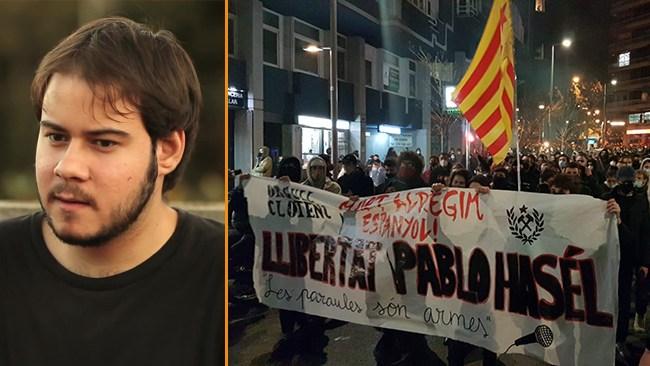 Stora protester efter fängslande av rappare – yttrandefriheten i Spanien ifrågasätts