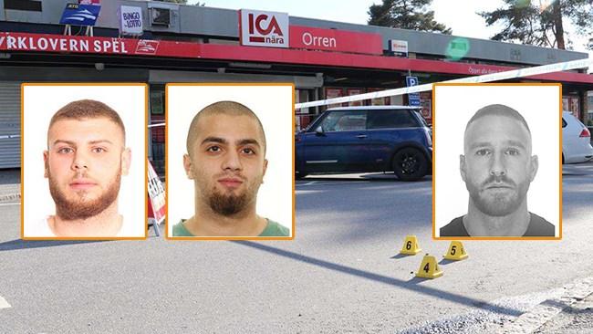 Vild shootout i Södertälje