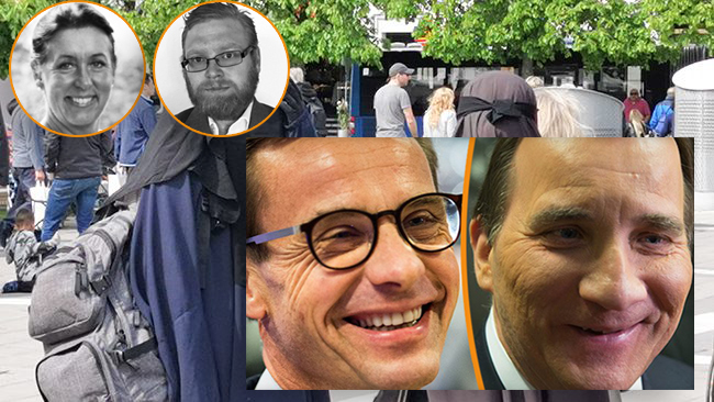 Pia Ahldén, Edward Norden, Ulf Kristersson, Stefan Löfven Foto: Nyheter Idag