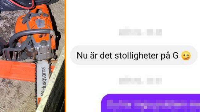 """Kamelryttaren inför rätta för motorsågshot: """"Ville att det skulle bullra lite grann"""""""
