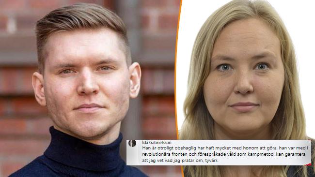 Markus Allard (ÖP), partiledare. Ida Gabrielsson (V), vice partiledare Foto: Privat/Riksdagen