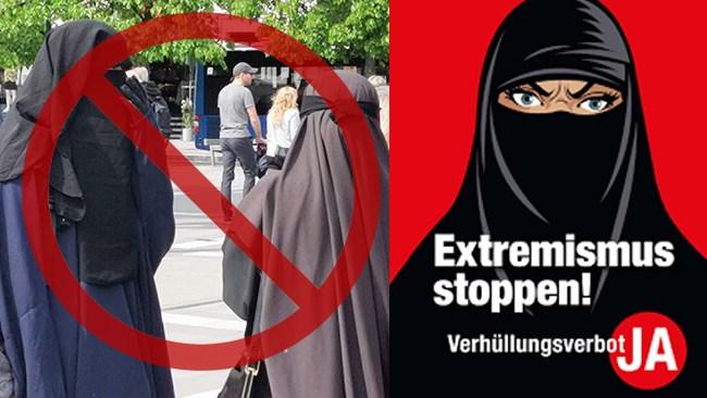 Burkaförbud införs i Schweiz