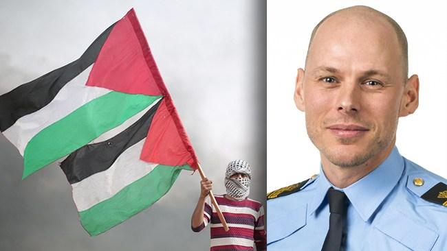 """Polisen svarar om Palestinastödet: """"Inte Polismyndighetens hållning"""""""