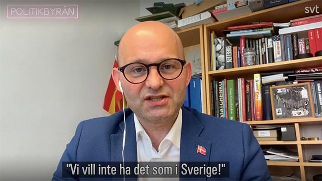 "Danske politikern: ""Om vi skulle bli som Sverige vore det en katastrof"""